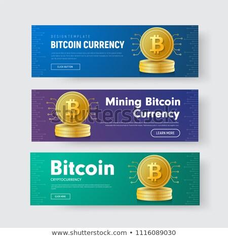 moeda · assinar · azul · vetor · ícone · botão - foto stock © rizwanali3d