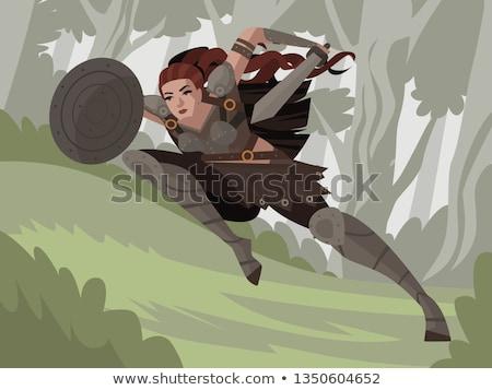 warrior princess stock photo © clipartmascots