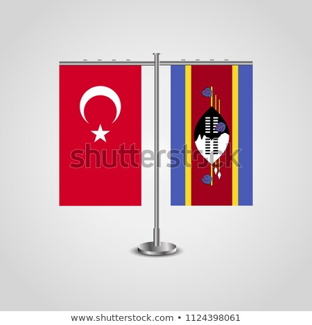 Turkey and Swaziland Flags Stock photo © Istanbul2009