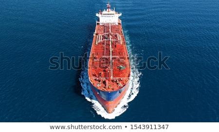 Petroliera mare nero acqua nave orizzonte Foto d'archivio © SRNR