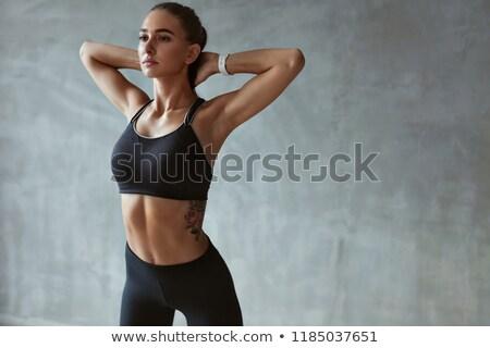 Fekete melltartó izolált fehér nők szexi Stock fotó © RuslanOmega
