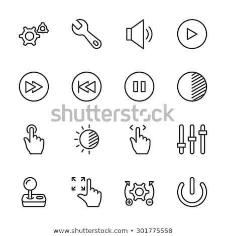 potere · pulsante · line · icona · web · mobile - foto d'archivio © rastudio