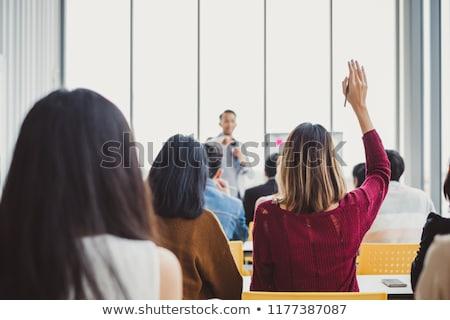 スピーカー · 話し · ビジネス · 会議 · 話 · 営業会議 - ストックフォト © deandrobot