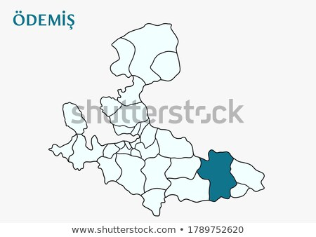 Map of Izmir - Odemis is pulled out Stock photo © Istanbul2009
