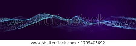 Stock fotó: 3D · absztrakt · digitális · hullám · részecskék · drótváz