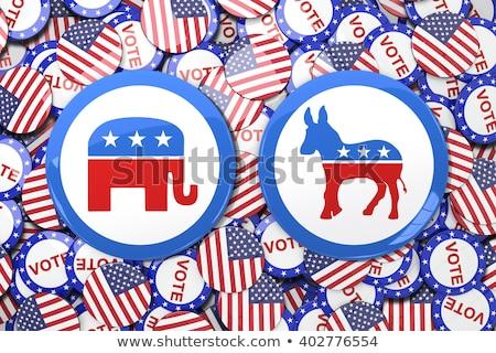 共和党の 民主党 政治的 アメリカン 選挙 戦う ストックフォト © Lightsource