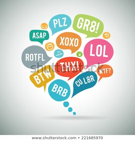 Internet siglas chatear burbuja ilustración diseno fondo Foto stock © kiddaikiddee