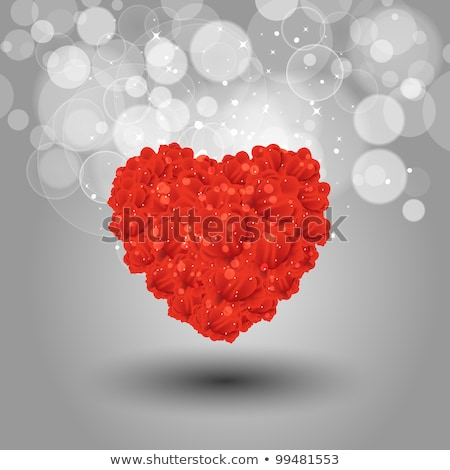 roses and heart shape petals eps 10 stock photo © beholdereye