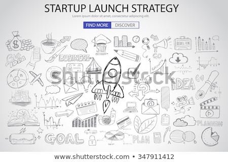 Strartup Launch Strategy Concept with Doodle design style  Stock photo © DavidArts