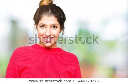 mooie · vrouw · hoofddoek · portret · mooie · mysterieus · vrouw - stockfoto © zurijeta