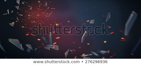 Ognia stłuczone szkło podziale oświetlenie Świeca Zdjęcia stock © cosma
