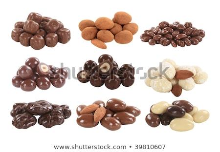 csokoládé · fedett · diók · választék · háttér · falatozó - stock fotó © digifoodstock