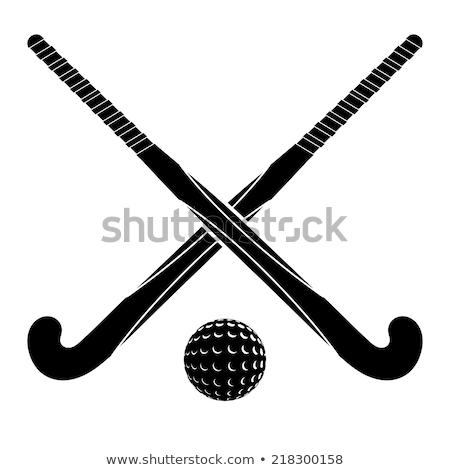 field hockey stick vector illustration stock photo © konturvid