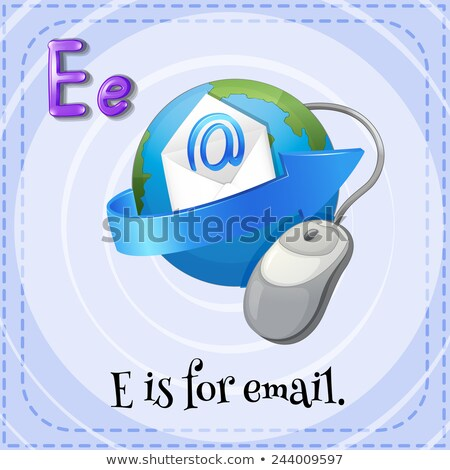 Flashcard letter E is for email Stock photo © bluering