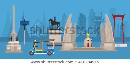 Democracia Bangkok Tailândia histórico azul Foto stock © Mikko