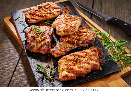 Marinated pork chop  Stock photo © Digifoodstock