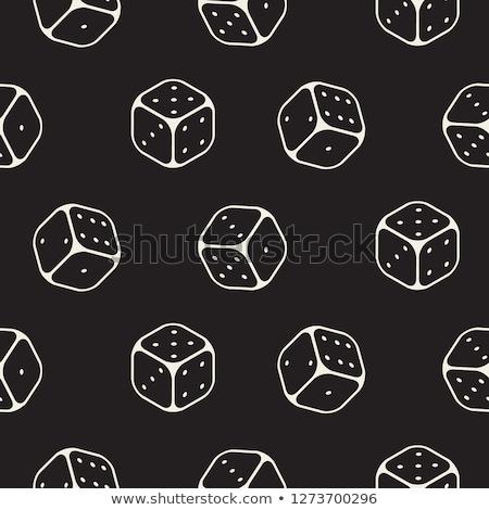 Dobbelstenen patronen gestileerde vector kans achtergrond Stockfoto © tracer