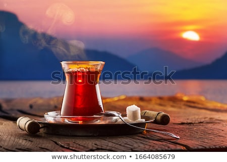 Teatime at sunset Stock photo © -Baks-