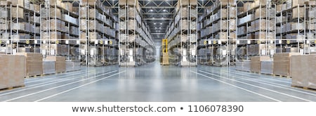 Huge distribution warehouse with high shelves Stock photo © nasonov
