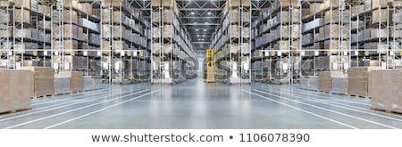belső · raktár · áru · polcok · doboz · gyár - stock fotó © nasonov