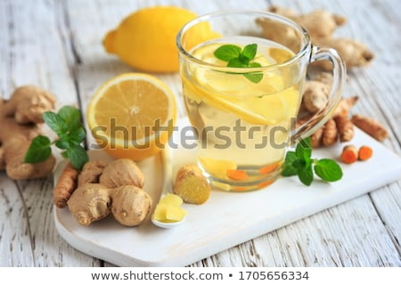 Cup of Ginger tea with lemon Stock photo © Lana_M