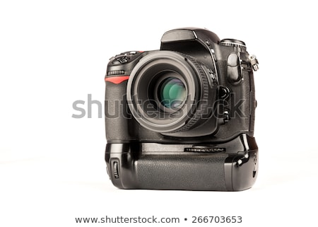 Batterij greep moderne dslr camera geïsoleerd Stockfoto © nemalo
