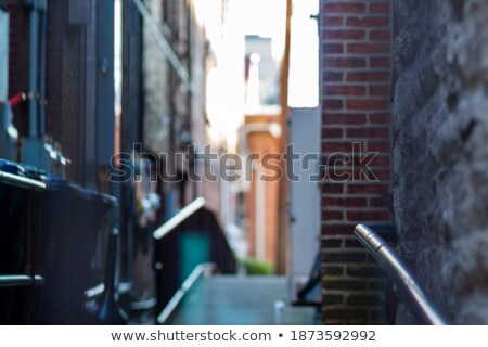 Narrow stairs between two walls Stock photo © dutourdumonde