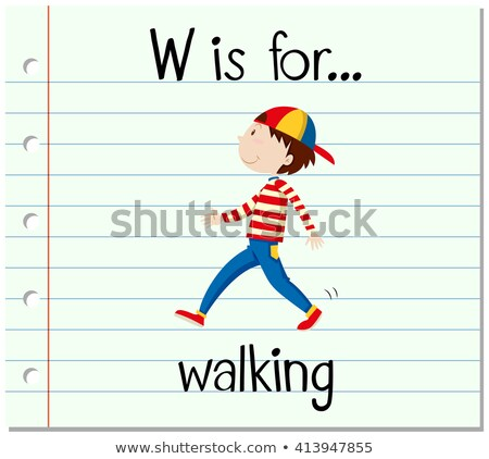 flashcard letter w is for walk stock photo © bluering