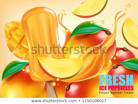 vector illustration of 3d stacked pineapple slices stock photo © adrian_n