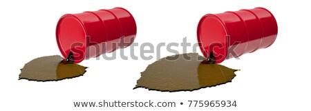 Spilled oil drums Stock photo © Novic