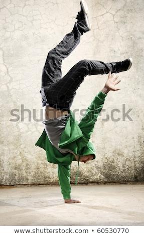 Stok fotoğraf: Erkek · hip-hop · dansçı · beyaz · dans · arka · plan