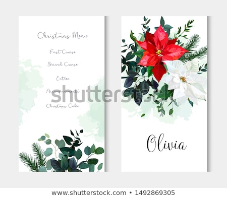 Christmas menu editable background Stock photo © marimorena