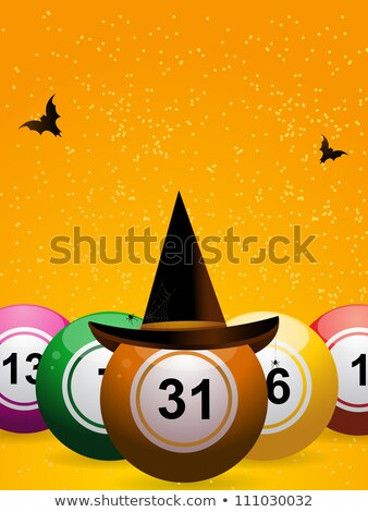 Bingo halloween seis bola cara Foto stock © elaine