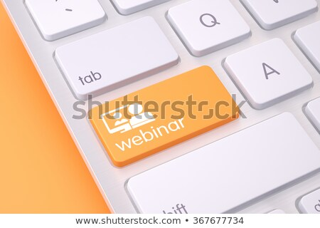 Laranja webinar ícone emblema on-line seminário Foto stock © Oakozhan