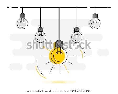 アイデア 絞首刑 電球 と思います 異なる ストックフォト © gomixer