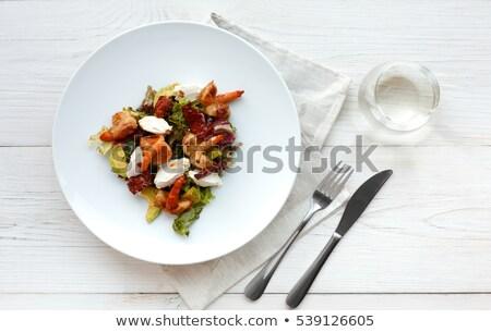 新鮮な 野菜 白 表 魚 ディナー ストックフォト © janssenkruseproducti