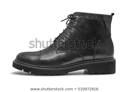 Black varnish female boots on a white background it is isolated. Stock photo © kayros