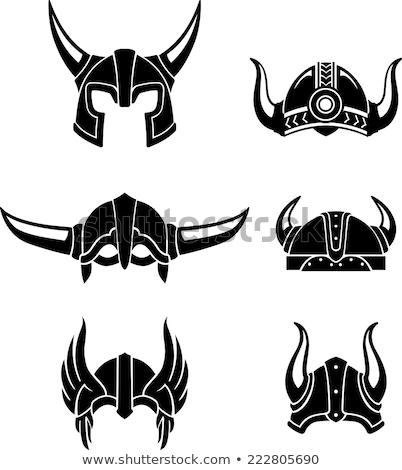 силуэта · спартанский · шлема · символ · гладиатор - Сток-фото © boogieman