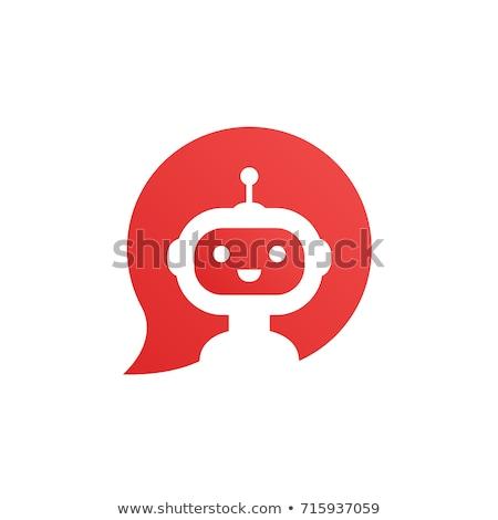 Chat robot logoterv 10 háló szolgáltatás Stock fotó © sdCrea
