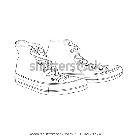 Sneakers shoes vector sketch drawing illustration Stock photo © cosveta