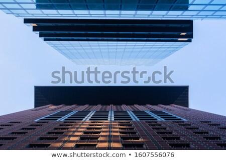 Fachada rascacielos armónico patrón fondo ventana Foto stock © meinzahn