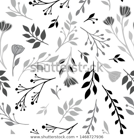 Simple seamless minimalistic floral winter pattern Stock photo © cosveta