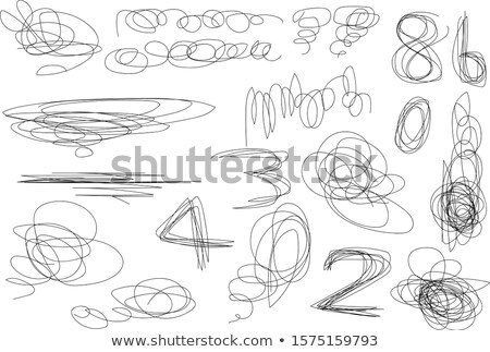 紙 作品 抽象的な ペン 鉛筆 白 ストックフォト © Kidza