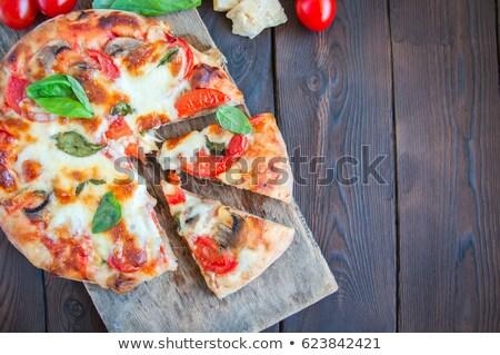 tomatoes, oil and basil Stock photo © vertmedia
