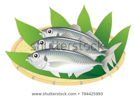 Makréla hal bambusz kosár piac Thaiföld Stock fotó © Mikko
