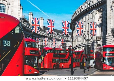 Londra otobüs sirk Bina seyahat kentsel Stok fotoğraf © lunamarina