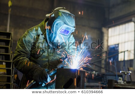 Saldatura metal impianto costruzione lavoro Foto d'archivio © mady70