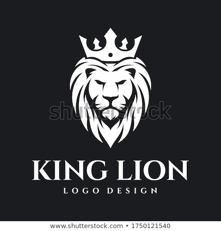 lion · tête · couronne · logo · laurier · couronne - photo stock © Andrei_