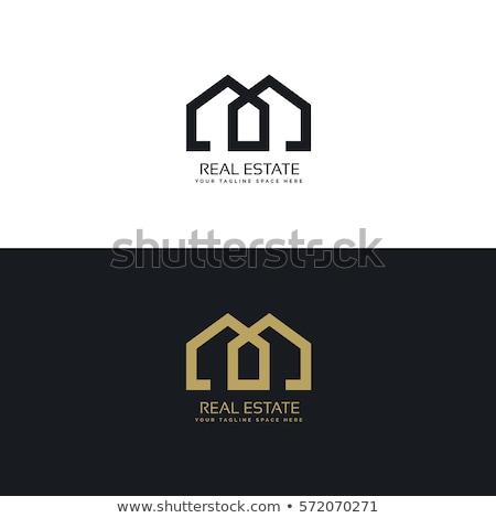Creativa mínimo inmobiliario diseño de logotipo edificio ciudad Foto stock © SArts