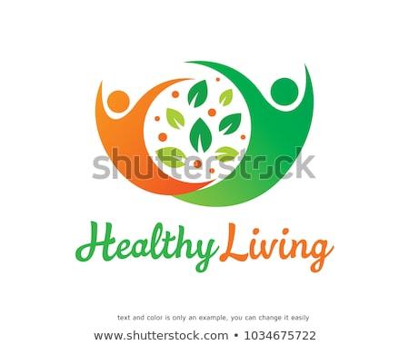 Gezond leven symbool gezonde voeding fitness gezond hart boom Stockfoto © Tefi